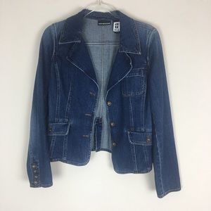 DKNY | Blazer Style Jean Jacket Size Large